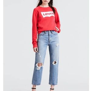 Levi's Wedgie Straight Distressed